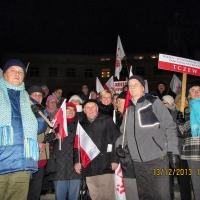 Myszkowianie na III Marszu Wolności, Solidarności i Niepodległości w Warszawie (2013-12-14)